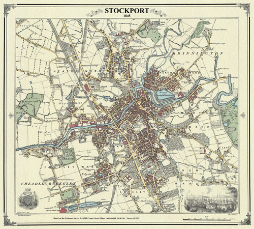 Heritage Cartography Victorian Town And Village Maps - Victorian world map